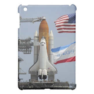 Space Shuttle Endeavour on the launch pad 3 Cover For The iPad Mini