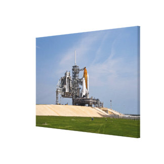 Space Shuttle Endeavour on the launch pad 4 Canvas Print
