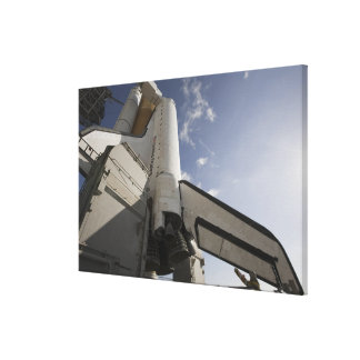Space Shuttle Endeavour on the launch pad 6 Canvas Print