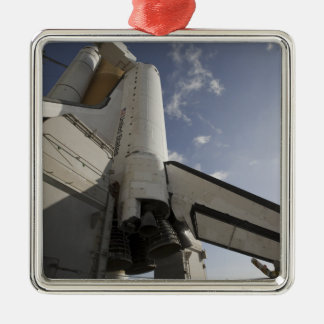 Space Shuttle Endeavour on the launch pad 6 Christmas Ornament