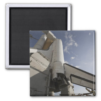 Space Shuttle Endeavour on the launch pad 6 Fridge Magnet