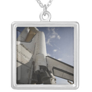Space Shuttle Endeavour on the launch pad 6 Silver Plated Necklace