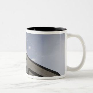 Space Shuttle Endeavour on the launch pad 6 Two-Tone Coffee Mug