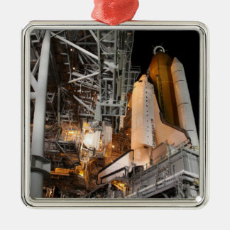 Space Shuttle Endeavour on the launch pad Christmas Ornament