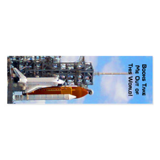 Space Shuttle Endeavour painting bookmarks Pack Of Skinny Business Cards