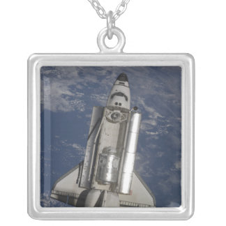Space Shuttle Endeavour Silver Plated Necklace