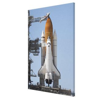 Space Shuttle Endeavour sits ready Canvas Print