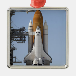 Space Shuttle Endeavour sits ready Christmas Ornament