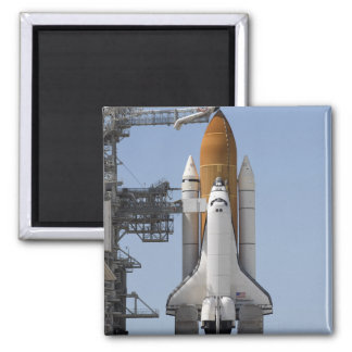 Space Shuttle Endeavour sits ready Refrigerator Magnets