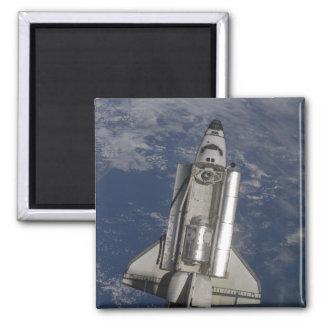 Space Shuttle Endeavour Square Magnet