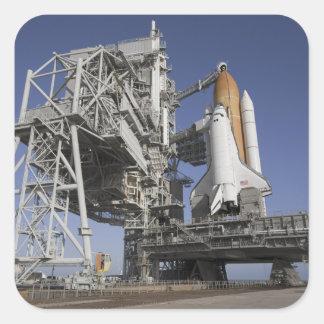 Space shuttle Endeavour Square Sticker