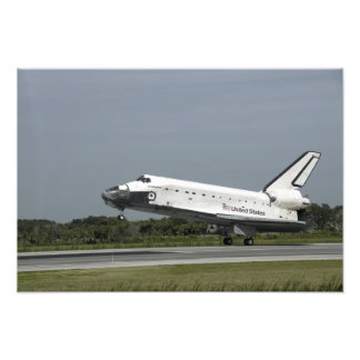 Space Shuttle Endeavour touches down Photo Print