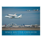 Space Shuttle Endeavour with jets poster 24x18