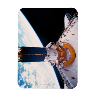 Space Shuttle in Orbit 2 Rectangular Photo Magnet