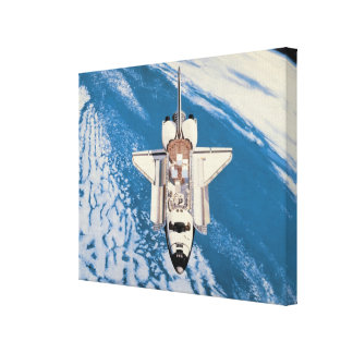 Space Shuttle in Orbit Gallery Wrapped Canvas