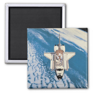 Space Shuttle in Orbit Square Magnet