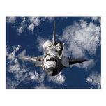 Space Shuttle in Orbiting Earth Postcard