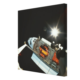 Space Shuttle in Space 2 Gallery Wrapped Canvas