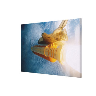 Space Shuttle in Space Canvas Prints