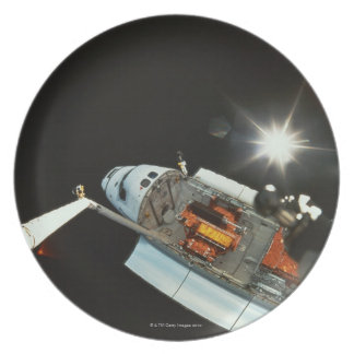 Space Shuttle in Space Plate