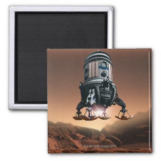 Space Shuttle Landing 3 Square Magnet