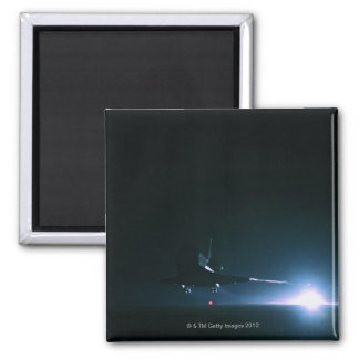 Space Shuttle Landing Square Magnet
