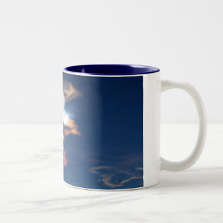 Space Shuttle Launch 3 Two-Tone Coffee Mug