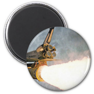 Space Shuttle launch 6 Cm Round Magnet