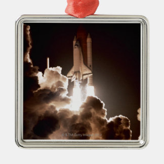 Space shuttle launch christmas ornament