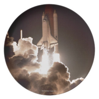 Space shuttle launch party plate
