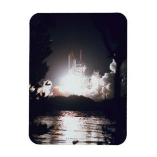 Space Shuttle Launch Rectangular Photo Magnet