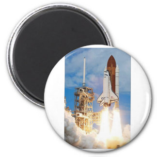 Space shuttle 6 cm round magnet