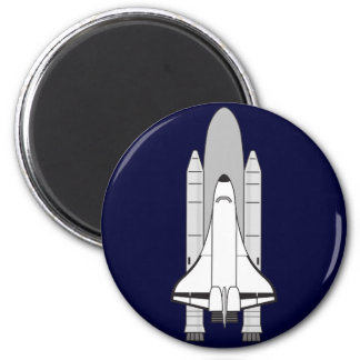 Space Shuttle Orbiter and Boosters 6 Cm Round Magnet