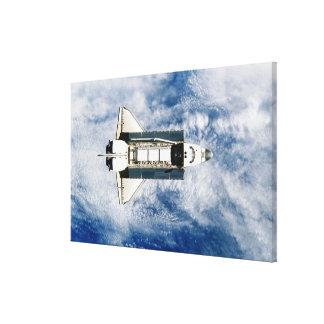 Space Shuttle Orbiting Earth 3 Canvas Print