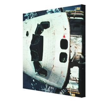 Space Shuttle Orbiting Earth Stretched Canvas Prints