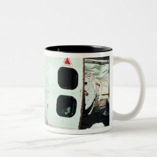 Space Shuttle Orbiting Earth Two-Tone Coffee Mug