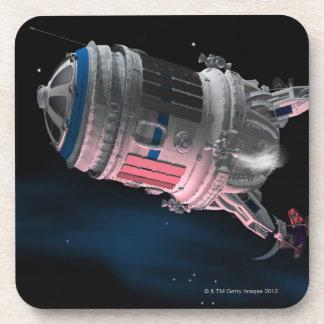Space Shuttle Orbiting Mars Coaster