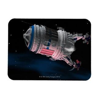 Space Shuttle Orbiting Mars Rectangular Photo Magnet