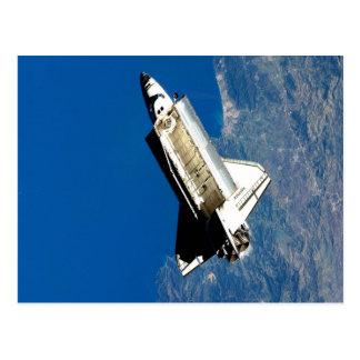 space shuttle outer space astronautics nasa postcard