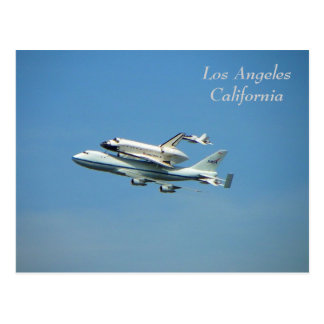 Space Shuttle Over Los Angeles Postcard!