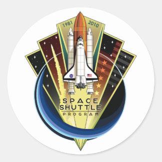 Space Shuttle Program Commemorative Patch Round Sticker