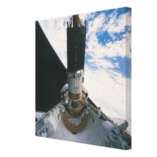 Space Shuttle Releasing Satellite Gallery Wrap Canvas