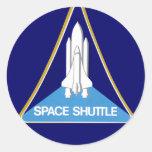 SPACE SHUTTLE ROUND STICKER
