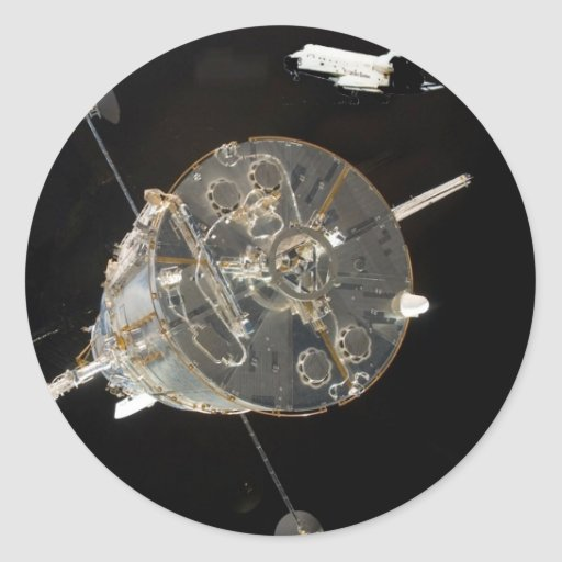 Space Shuttle SkyLab Round Stickers
