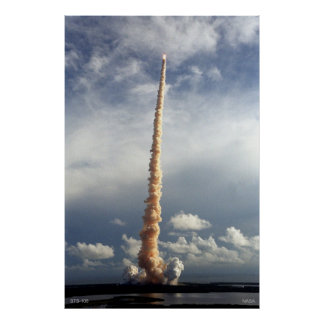 Space Shuttle STS-106 in flight Poster