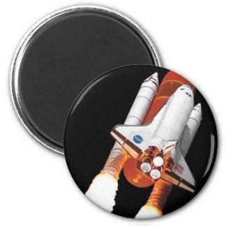 Space Shuttle Transport 6 Cm Round Magnet