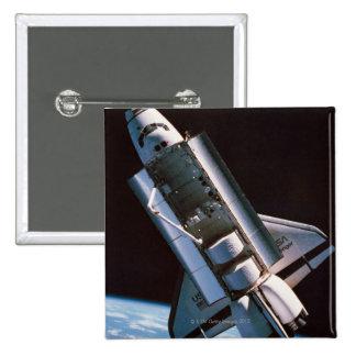 Space Shuttle with Open Cargo Bay 15 Cm Square Badge