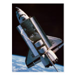 Space Shuttle with Open Cargo Bay Postcard