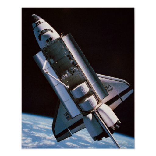 Space Shuttle with Open Cargo Bay Posters