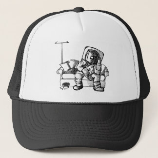 Space sofa trucker hat